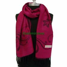 New Floral Paisley Pashmina Silk Shawl Scarf Stole jacquard Wrap Hot Pink #P304