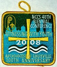 Louisville Archdiocese (KY) 2008 NCCS Biennial Conference Pocket Patch  BSA