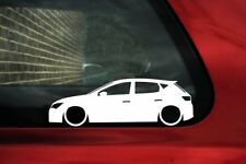 2x Lowered car stickers - for mk3 Seat Leon Cupra 5-door (5F 2012—present)