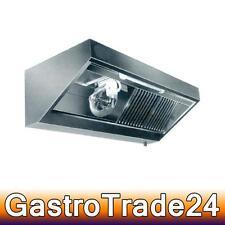 Wandhaube Edelstahl Gastro mit Motor 2000 x 900 mm Gastronomie Dunstabzugshaube