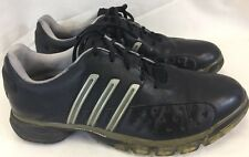 Adidas Traxion AdiPrene Power Band Men's Black/Silver Soft Spike Golf Shoes Sz 9