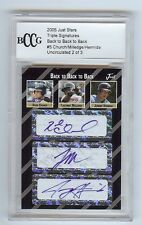 JEREMY HERMIDA / RYAN CHURCH / MILLEDGE UNCIRCULATED 2005 Triple Autograph 2/3
