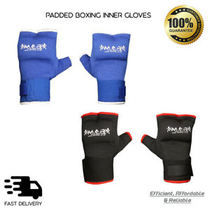 Boxing Inner Gloves MMA Hand Wrap Padded Protector Bandages Muay Thai Kickboxing