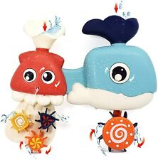 New ListingWhale Waterfall Bath Toy for Babies & Toddlers | Whale Fountain, Spinner Wheel