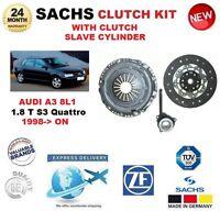 Per Audi A3 8L1 1.8 T- S3 Quattro 1998-ON Sachs Kit Frizione Con Slave Cilindro