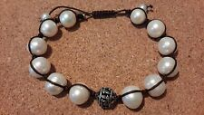 "Silpada  Sterling Silver ""Rugged Pearls"" Sliding Clasp Bracelet B2424"