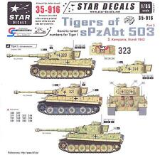 Star Decals 1/35 GERMAN TIGER TANKS OF sPxAbt 503 Generic Turret Numbers Part 3