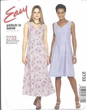 McCalls Sewing Pattern # 2733 Misses Petite Dress in 2 Lengths Size 18-20-22-24