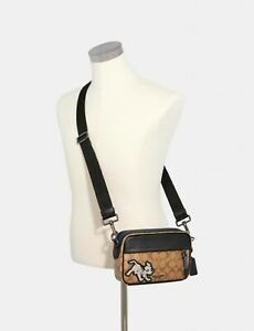 Coach Disney X Coach 91498 Graham Crossbody In Signature Canvas With Dalmatian