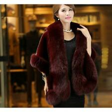 New Womens Faux Mink Fur Shawl Shrug Weddings Party Wrap Cape Evening Coat