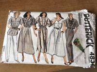 Vintage Butterick Pattern #4836 Shirt Dress Top Skirt Pants UNCUT Plus 20 22 24