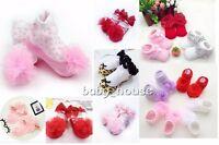 Newborn baby girls cotton socks princess lace flower baby socks floor socks