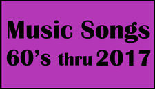 4900 Top Songs fron 60's thru 2017 {6 Decads} mp3 Songs on 32gb usb flash drive