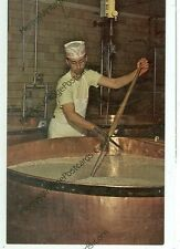 SUGARCREEK,OHIO-MUELLERS CHEESE HOUSE-CUTTING CURD-(DAIRY-71)