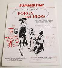 Partition sheet music GEORGE GERSHWIN : Summer Time * 80's Porgy and Bess