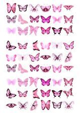 54X BEAUTIFUL BUTTERFLY BIRTHDAY EDIBLE WAFER PAPER, CUPCAKE, CAKE TOPPERS 1014