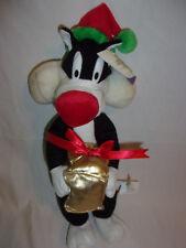 "Looney Tunes Sylvester Cat Plush Soft Toy Stuffed Animal 15"" Christmas Santa"