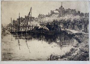 Vera Colborne 1877-1952 etching c1925 Rye Sussex