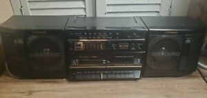 Fisher PH-W803 BA Surround Sound Dual Cassette Vtg Stereo Radio Boombox Tested