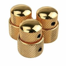 3X Metal Stacked Dual Control Knob set 2 GOLD NEW for Guitar Bass Concentric Pot