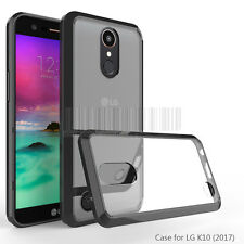 Slim Clear Shockproof Hybrid Rubber Hard Phone Case Cover For LG K20 V Plus