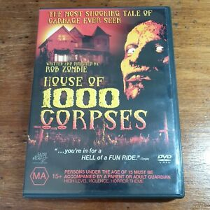House of 1000 Corpses DVD R4 LIKE NEW FREE POST