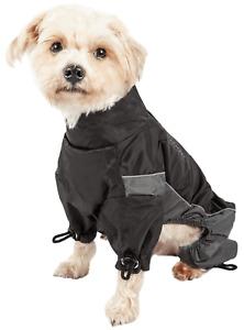 Touchdog Winter Dog Coat: Blackshark 700 I Black I Size SMALL