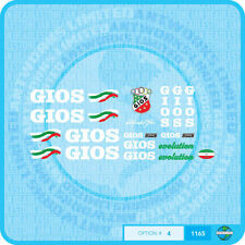 Gios Gios Evolution - Bicycle Decals Transfers Stickers - Set 4