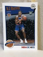 2019-20 NBA Hoops Rookie Tribute #298 RJ Barrett RC Holiday Snow Winter Knicks