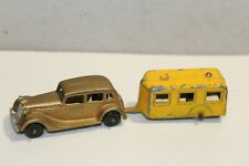 NICE TOOTSIETOY #1043 FORD SEDAN with CAMPER Issued 1937