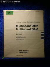 Sony Bedienungsanleitung CPD 100SFT 200SFT Multiscan 100SF 200SF Display (#0643)