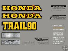 1976 Honda CT90 Trail - 10 pc. decal set