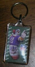 Miller Lite Beer Bottle Ad NFL Football #12 Purple Vikings Jersey Key Ring Chain