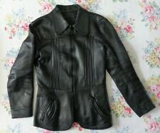 Vintage Penny Collar 70s Leather Jacket size small