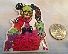 Skull Mickey Mouse Disney  Punk Rock Goth Skater Decal Skateboard Laptop