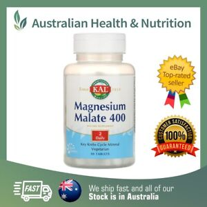 KAL MAGNESIUM MALATE TABLETS // CHOOSE SIZE // ACTIVTAB TECHNOLOGY + FREE POST