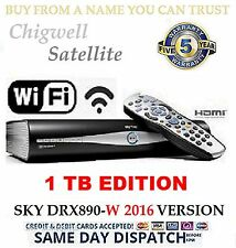 A GRADE 1TB SKY + HD SATELLITE BOX AMSTRAD DRX890W  MASSIVE 1TB UPGRADE