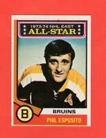 1974-75 O-Pee-Chee OPC  # 129 Phil Esposito As nrmnt-mt