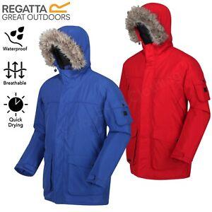 Regatta Mens Salinger II Waterproof Jacket Insulated Padded Hooded Warm Parka