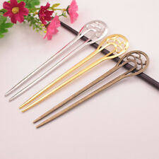 Women 16cm Long Metal Wedding Party Hair Stick Pick Fork Hairpin Tone