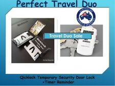 Backpacker Temporary Door Lock Travel Security Lock - Bonus Timer Reminder