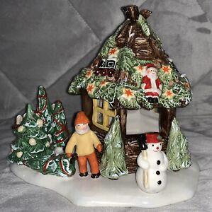 VILLEROY & BOCH NOSTALGIC MARKET CHRISTMAS TREE SELLER TEALIGHT HOLDER