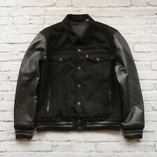 Levis Varsity Trucker Jacket Wool Leather Insulated Size XL