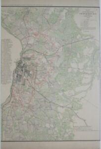 Original Civil War Map PETERSBURG 1863 Rebel Batteries Dimmock Line Virginia