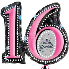 "Sweet Sixteen SuperShape Amscan Licensed 28""x26"" Balloon Party Decoration"