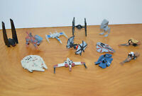 STAR WARS MICRO MACHINES Lot Millennium Falcon Tie Fighter X-Wing Speeder Bike
