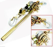 4400lb HD 2 Ton Hoist Hand Ratchet Puller Come Along Double Hooks Cable Host