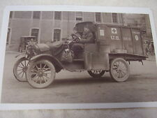 FORD MODEL T US ARMY TRUCK FIRST AID WW1?   11 X 17  PHOTO /  PICTURE