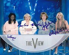 Elisabeth Hasselbeck Joy Behar Barbara Walters & Whoopi Signed 8x10 Photograph