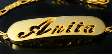 ANITA - Bracelet With Name - 18ct Yellow Gold Plated - Gifts For Her - Fashion